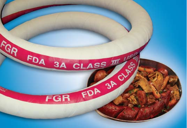 Flexible hoses for food industry